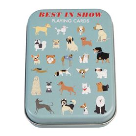 best in show playing cards in a tin