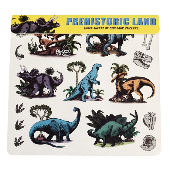 PREHISTORIC LAND STICKERS 3 SHEET SET