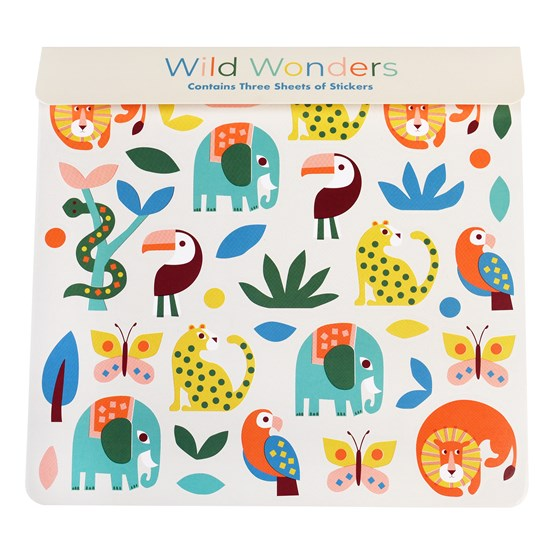 WILD WONDERS STICKERS 3 SHEET SET