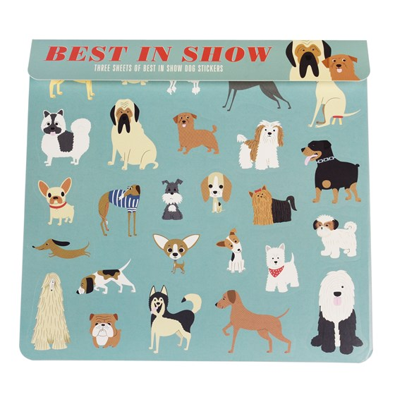 best in show stickers 3 sheet set