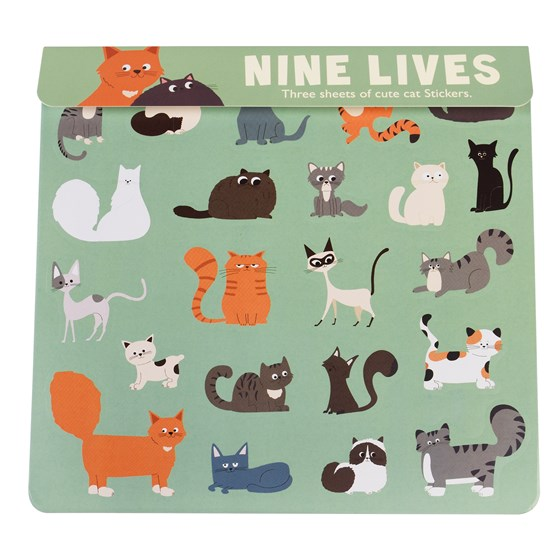 NINE LIVES STICKERS 3 SHEET SET