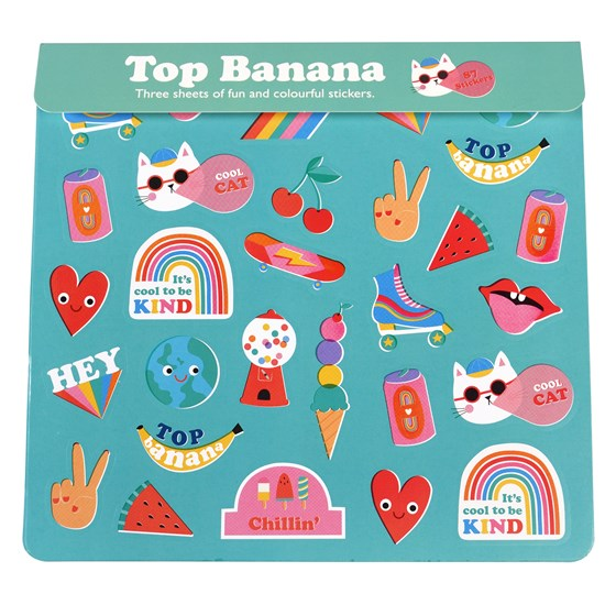 TOP BANANA STICKERS 3 SHEET SET