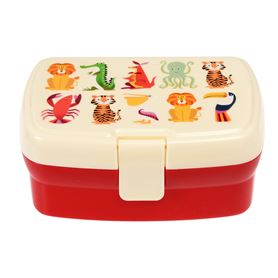 colourful creatures lunch box with tray