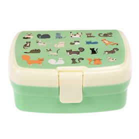 nine lives lunch box with tray