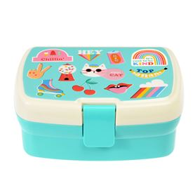 top banana lunch box with tray