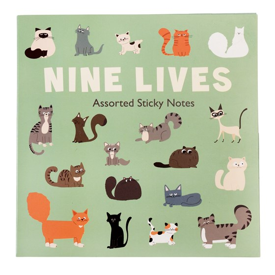 NINE LIVES STICKY NOTES