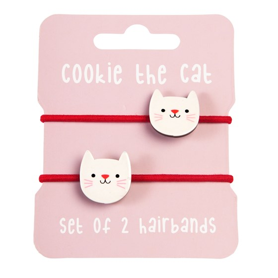 COOKIE THE CAT HAIR BANDS (SET OF 2)