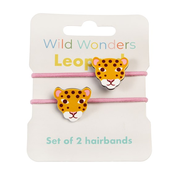 WILD WONDERS LEOPARD HAIR BANDS (SET OF 2)