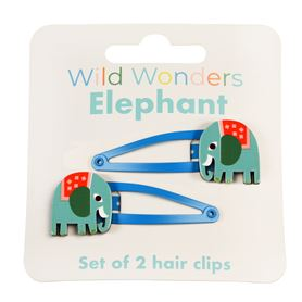 wild wonders elephant hair clips (set of 2)