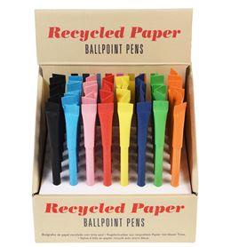 recycled paper pen in assorted colours