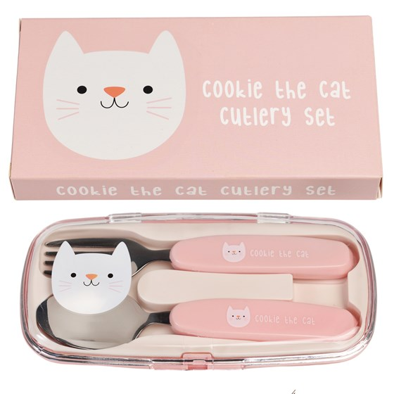 COOKIE THE CAT CUTLERY SET