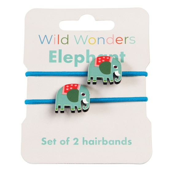 WILD WONDERS ELEPHANT HAIR BANDS (SET OF 2)