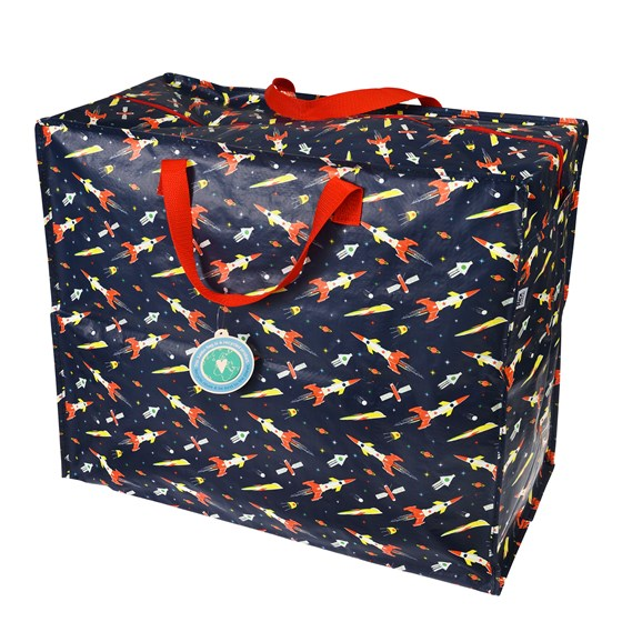 SPACE AGE ROCKET JUMBO STORAGE BAG