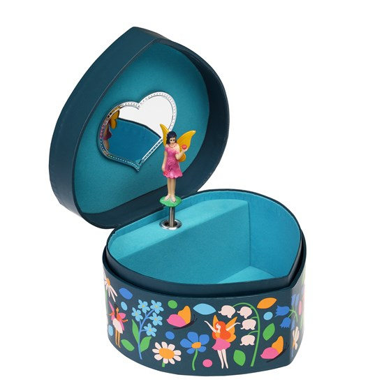 fairies in the garden heart jewellery box