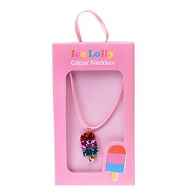 ice lolly glitter necklace