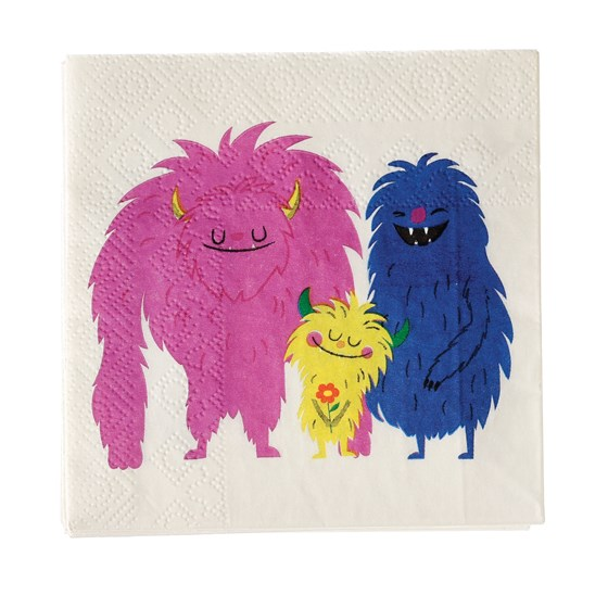 MONSTERS OF THE WORLD COCKTAIL NAPKINS (PACK OF 20)