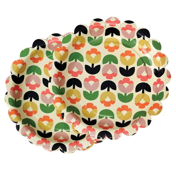 TULIP BLOOM PAPER PLATES (PACK OF 8)