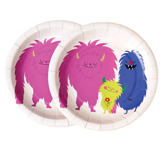 MONSTERS OF THE WORLD PAPER PLATES (PACK OF 8)