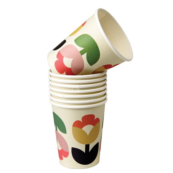 TULIP BLOOM PAPER CUPS (SET OF 8)
