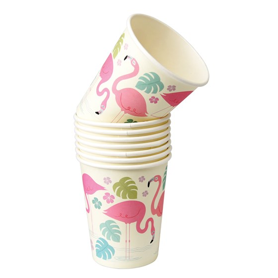 FLAMINGO BAY PAPER CUPS (SET OF 8)